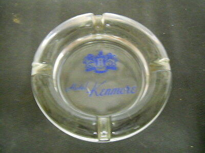 Vintage Hotel Kenmore Clear Glass Ashtray