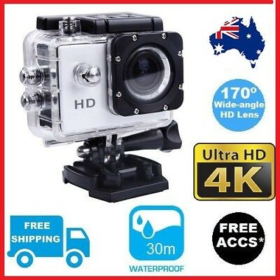 4K Sports Action Cam Video Waterproof Camera HD Gopro Go Pro Mount WIFI Connect