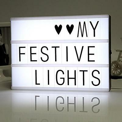 Customisable Light Lighting Box Sign Includes Letter A-Z, 0-9, #@& and Emojis