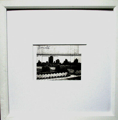 CHRISTO  The Gates  HANDSIGNIERT, Project, hand-signed Rahmen, Central Park NY