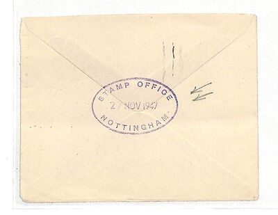 AL194 1947 GB OFFICIAL NOTTS *Stamp Office Nottingham* Cover {samwells-covers}