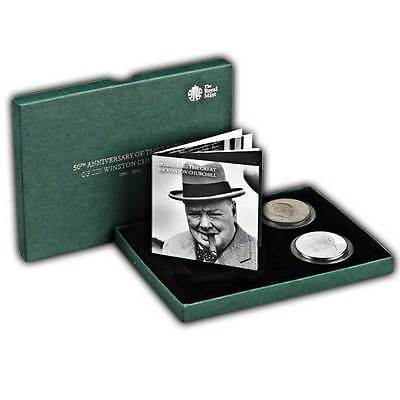 The 50th Anniversary of the Death of Sir Winston Churchill UK Two Coin Set