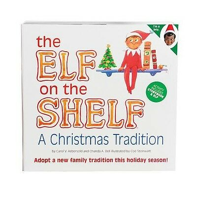 CCA and B Elf on the Shelf Brown Eyed Boy Book