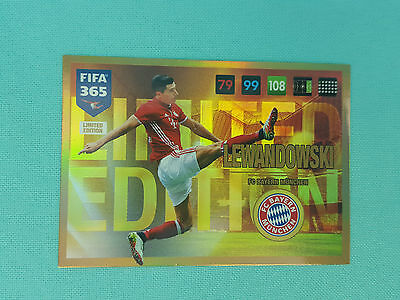 Panini Adrenalyn XL FIFA 365 2017 Lewandowski Limited Edition Trading Card