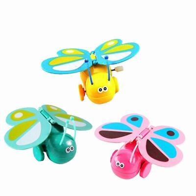 Cute Quivering Wings Running Butterfly Wind Up Clockwork Toy Kids Xmas Gift