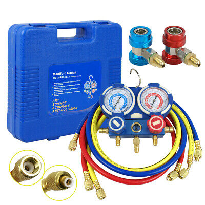 Refrigeration Air Conditioning A/C Diagnostic Manifold Gauge R134a R410a R22