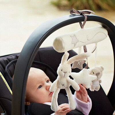 Baby Infant Toddler Rabbit Bear Musical Car Seat Stroller Pram Cot Rattle Toy R1