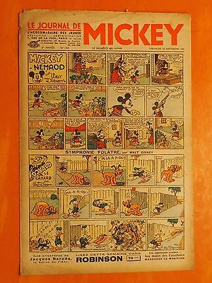 Le journal de Mickey N° 152 du 12/09/1937-Walt Disney. éditions Opera Mundi