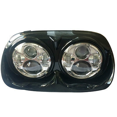 5.75 inch Motorcycle Chrome Dual LED Headlight for Harley Davidson Road Glide