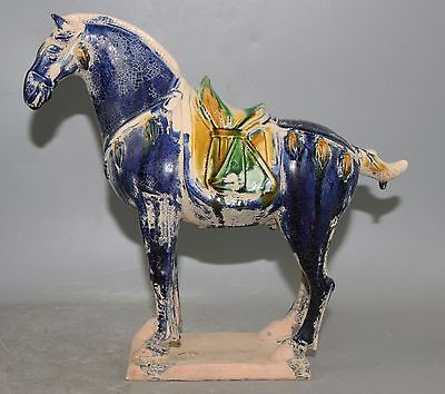 Chinese The tang dynasty style porcelain horse statue