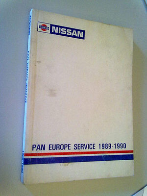 NISSAN - PAN Europe Service book/manual/guide/maps - 1989-1990