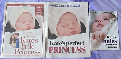 Kate Middleton's Little Princess Charlotte Prince George Daily Mail Supplements