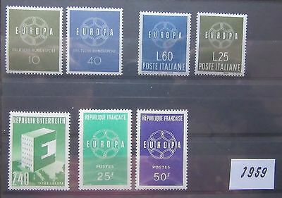 Timbres Europa 1959 Neufs