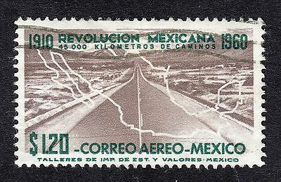 1960 Mexico 1.20$ Highway and Map SG 992 FINE USED R19833