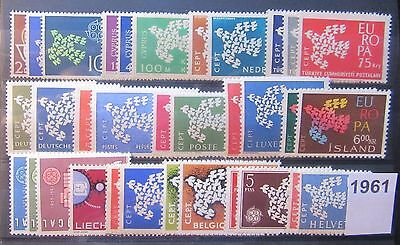 Timbres Europa 1961 Neufs