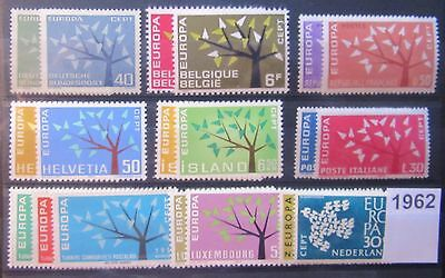 TIMBRES EUROPA 1962 NEUFS  9 pays