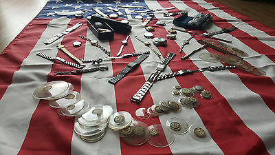 SWISS GOLD , SILVER & PLATINUM watches and parts TREASURE LOT