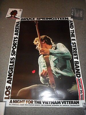 Bruce Springsteen - Original Ss Rolled Concert Poster - August 20,1981 - Rare!!
