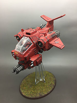 Warhammer 40,000 Space Marines Blood Angels Stormtalon Gunship Painted And Based