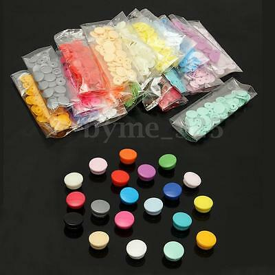 200 Sets Resin Snap Kits Size 20 T5 Plastic Snaps Fastener Buttons Press Stud