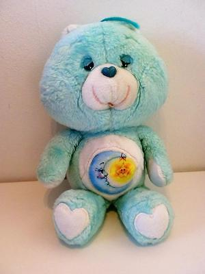 "Vintage Care Bears Blue Bedtime Bear Plush Soft Toy 12"" Tall 1980s"