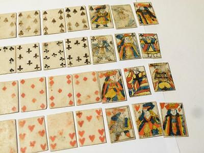 Antique Rare FULL SET PLAYING CARDS 12 Pictures NAPOLEONIC Prisoner of War #N11