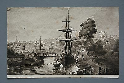 R&L Postcard: Exeter from Canal, Worth's Series 1912
