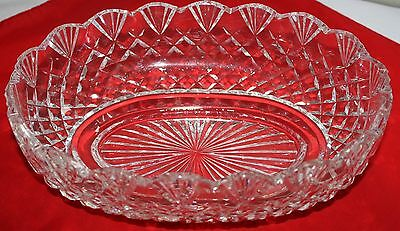 "WATERFORD CRYSTAL CUT LARGE BOWL,11 x 7 x 3.5"", GIFTWARE PATTERN,*CHRISTMAS SALE"