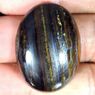45.75 Cts 100% NATURAL IRON TIGER EYE OVAL SHAPE CABOCHON LOOSE GEMSTONE