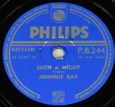 Schellackplatte - Johnnie Ray - Such A Night / An Orchid For The Lady gramophone