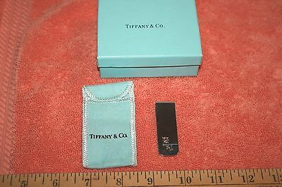 Sterling Silver Tiffany & Co. Money Clip Engraved IRA with Bull with Box & Bag