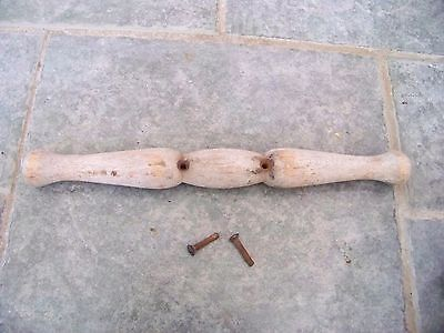 Antique Vintage Buggy Wood Handle  From Trav-L-Eez Baby Carriage Buggy