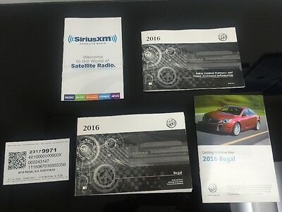 BUICK REGAL 2016 OWNERS MANUAL Books / Free Shipping, No Case