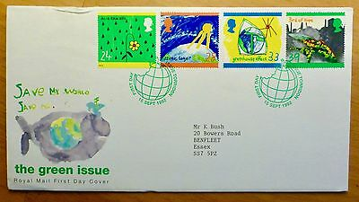 THE GREEN ISSUE - Royal Mail First Day Cover issued 15th September 1992