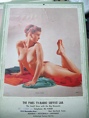 VINTAGE ~ 1958 CALENDER ~ EVELYN WEST ??  Burlesque Pin-Up  PRACTICE ~ CLEAN