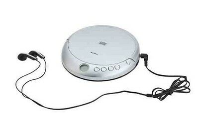 Alba Personal Cd Disc Player Silver With Headphones