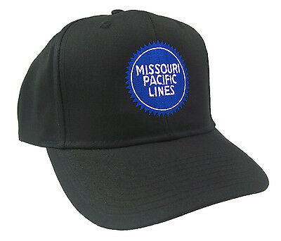 Missouri Pacific Lines Blue Buzzsaw Embroidered Cap Hat #40-0060B