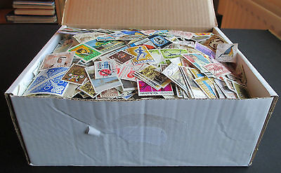 Vast Collection Of Stamps In Old Box - All Periods - Est 20,000+ Worldwide