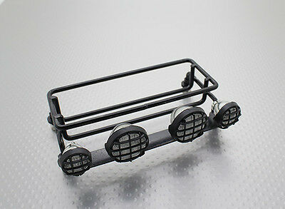 1/10  Scale RC 4X4 Crawler Luggage Tray Roof Rack with Lights CC-01 etc CLTH
