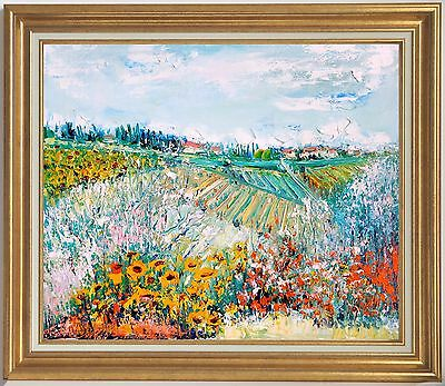 Yolande Ardissone~Listed Artist~Landscape In Tuscany~Original Oil Painting