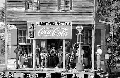 Coca Cola Gas Station Advertising Sign Vintage photo print Sprott. Al 193913x19