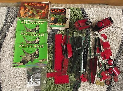 Vintage Meccano And Instructions Lot