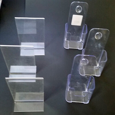 Brochure Sign holders  poster flyer Free Standing Clear Acrylic Staples -6