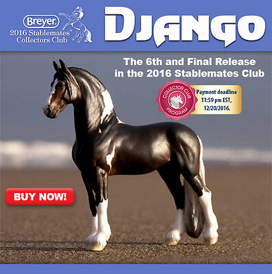 Django Breyer Stablemate Club Special New from Breyer- Perfect Gift!!