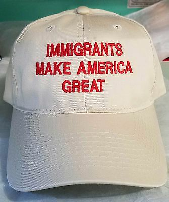 Immigrants Make America Great Customized & Personalized Embroidered Elegant Cap