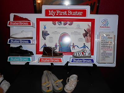 Buster Brown Child's Shoe Display With Samples, Extra Shoes and Flyers