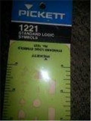 Pickett Chartpak 1221 Standard Logic Symbols Template NEW