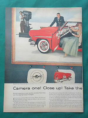 1955 Lot Automobile Magazine Ads ~ Lincoln Capri Convertible ~ Ed Sullivan