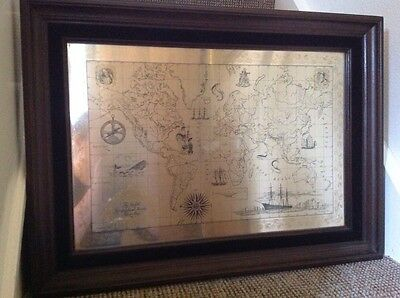 Royal Geographical Society Sterling Silver Map Fully Hall Marked