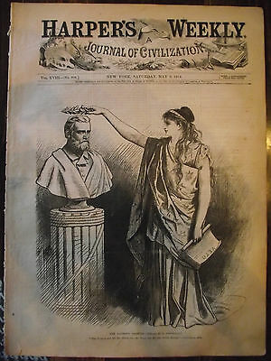 5/9/1874 Harper's Weekly ~ Thomas Nast And  Other Great Prints!